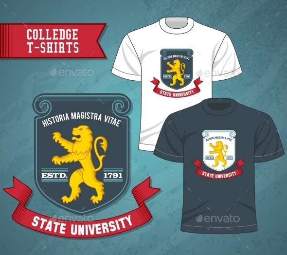 GraphicRiver College Labels T-shirts 10198550