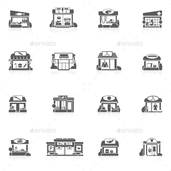 GraphicRiver Store Buildings Set 10198558
