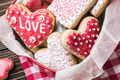 Heart shaped cookies baked on Valentines Day - PhotoDune Item for Sale