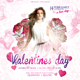 Valentines Day Pink Flyer - GraphicRiver Item for Sale