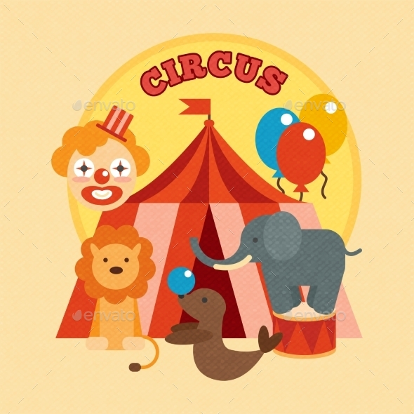 GraphicRiver Circus Poster Flat 10198568