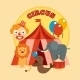 Circus Poster Flat - GraphicRiver Item for Sale