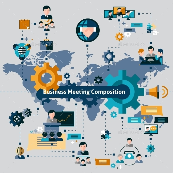 GraphicRiver Business Meeting Composition 10198572