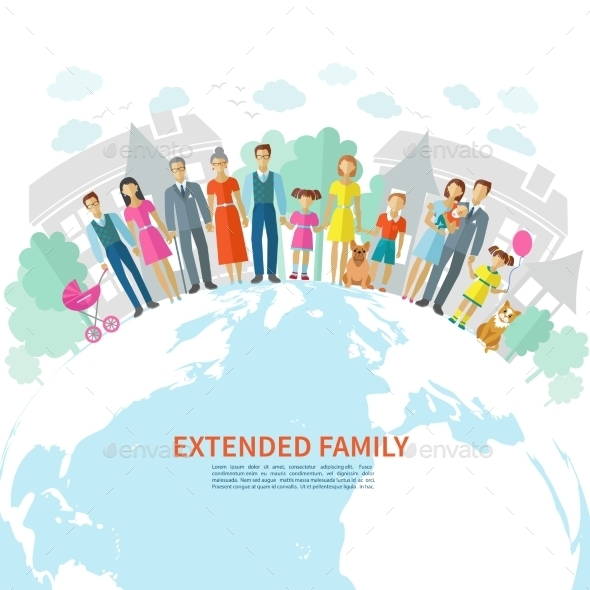 GraphicRiver Family Flat Background 10198581