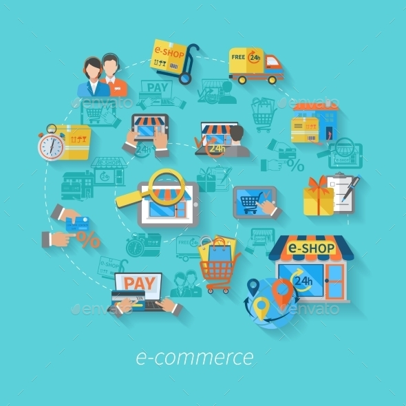 GraphicRiver Shopping E-commerce Concept 10198585