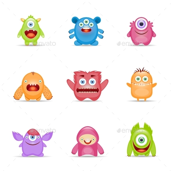 GraphicRiver Monster Character Set 10198597