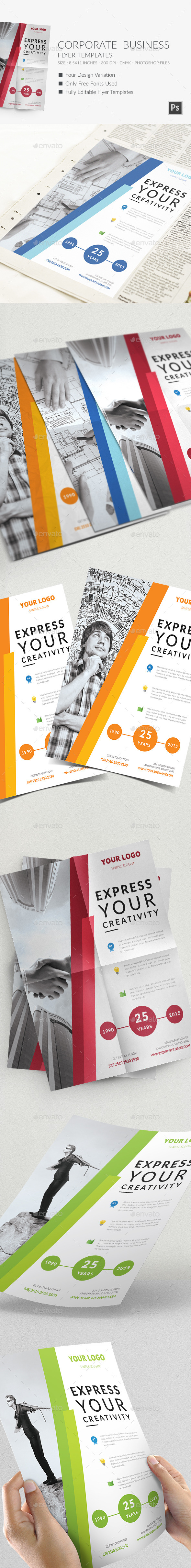 GraphicRiver Corporate Business Flyer Templates 10198783