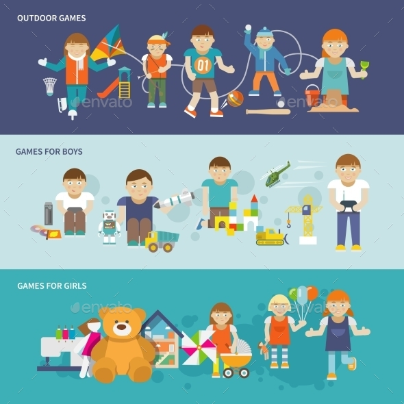 GraphicRiver Kids Playing Banner 10198797
