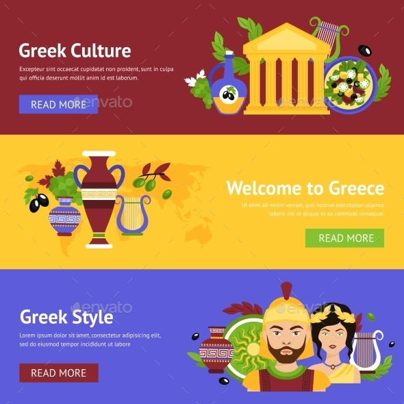 GraphicRiver Greece Banner Set 10198800