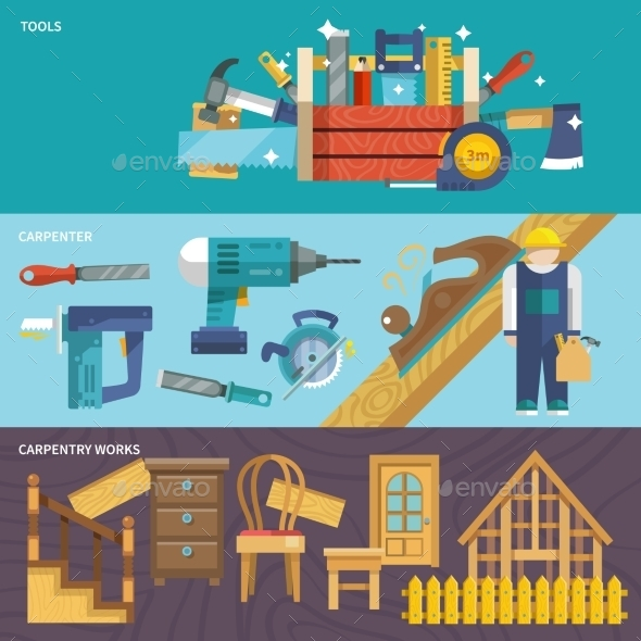 GraphicRiver Carpentry Banners Set 10198811