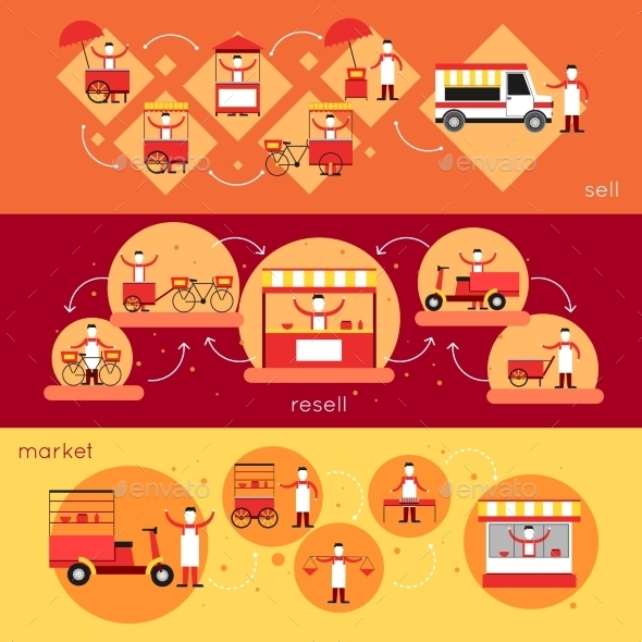 GraphicRiver Street Food Banner 10198837