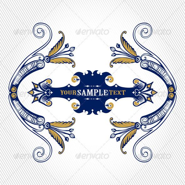 Graphic River Vintage Cartouche Vectors -  Decorative  Flourishes / Swirls 1027806