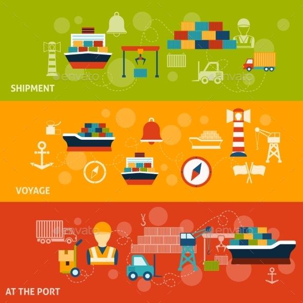 GraphicRiver Seaport Banner Set 10198853