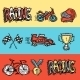 Racing Banners Set - GraphicRiver Item for Sale