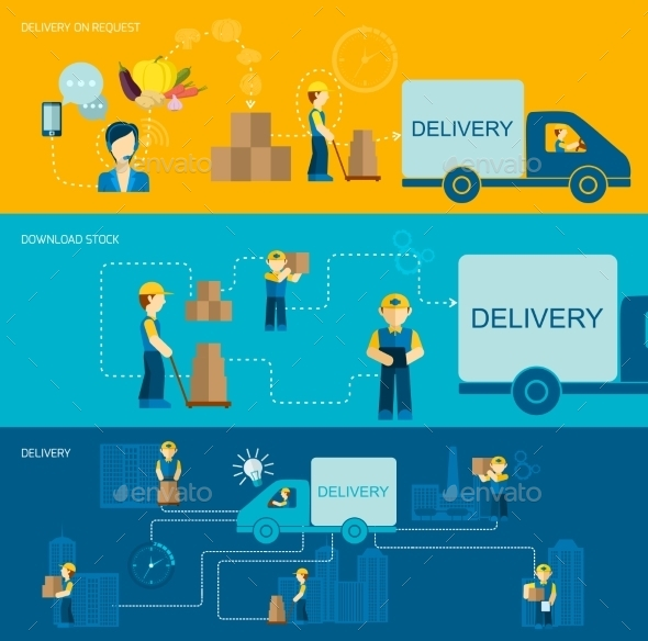 GraphicRiver Delivery Man Banner 10198916