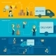 Delivery Man Banner - GraphicRiver Item for Sale