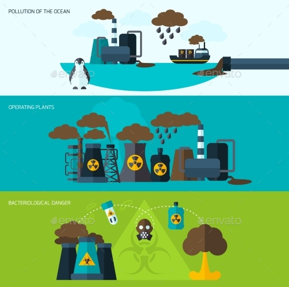 GraphicRiver Pollution Banner Set 10198927