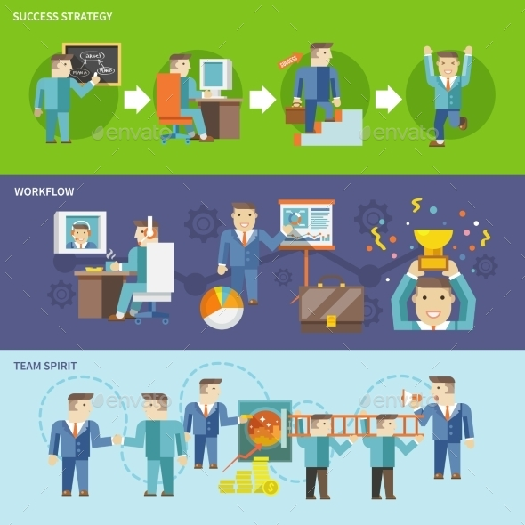 GraphicRiver Businessman Working Set 10199138