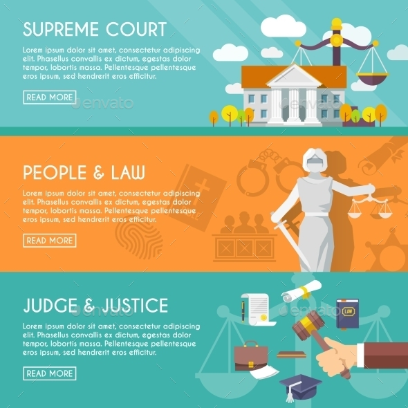 GraphicRiver Law Horizontal Banners 10199142