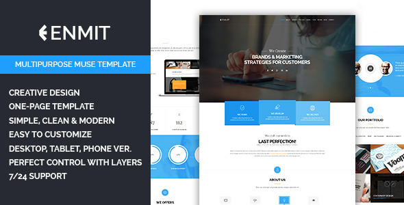 ThemeForest Enmit Multipurpose Muse Template 10199160