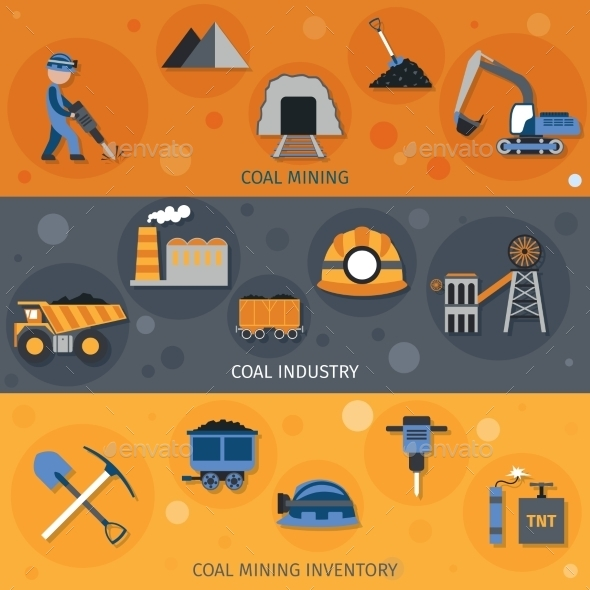 GraphicRiver Coal Industry Banners 10199167