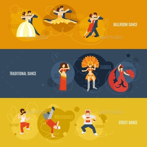 GraphicRiver Dance Banner Set 10199177