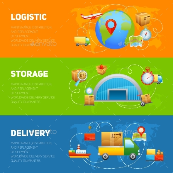 GraphicRiver Logistic Banner Set 10199193