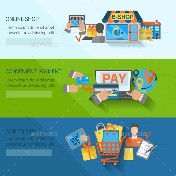 GraphicRiver Shopping E-commerce Banners 10199244