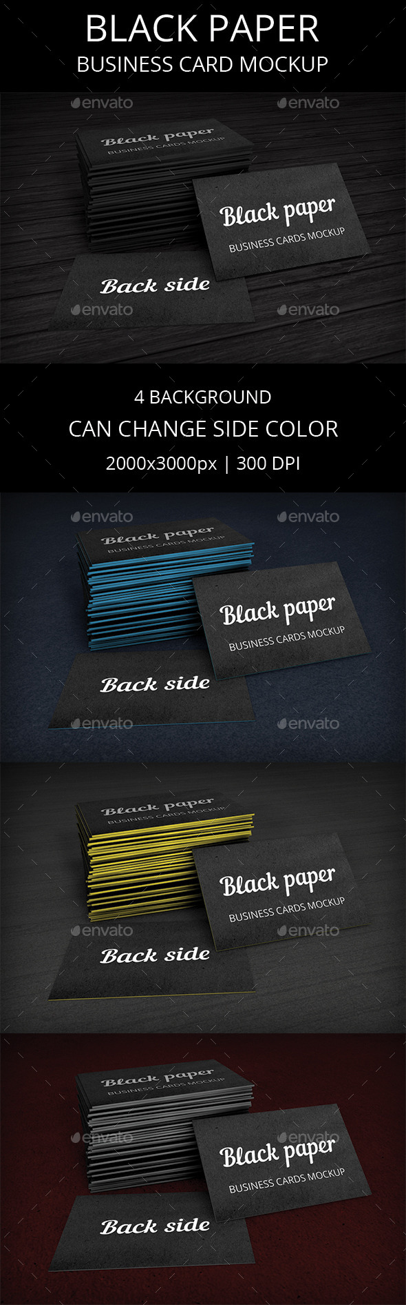 GraphicRiver Black Business Card Mockup 10199679