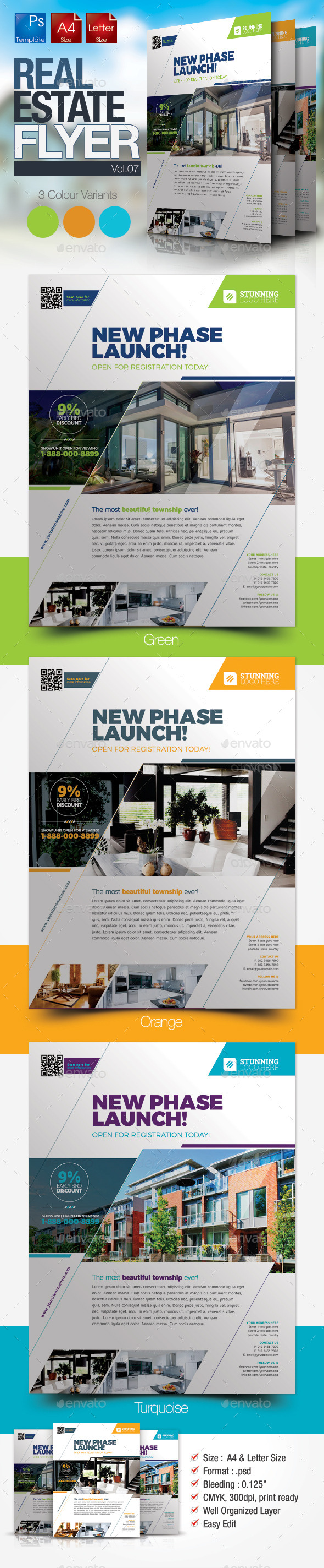 GraphicRiver Simple Real Estate Flyer Vol.07 10199951