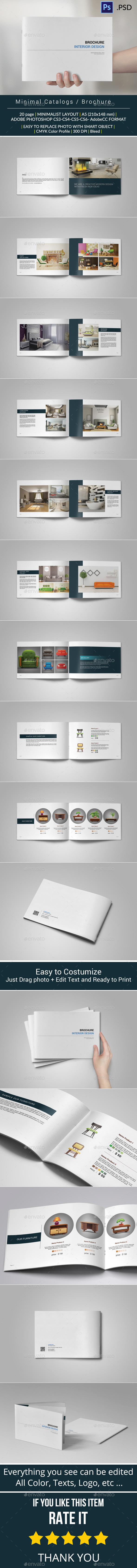 GraphicRiver Minimal Catalogs Brochure Template 10200061
