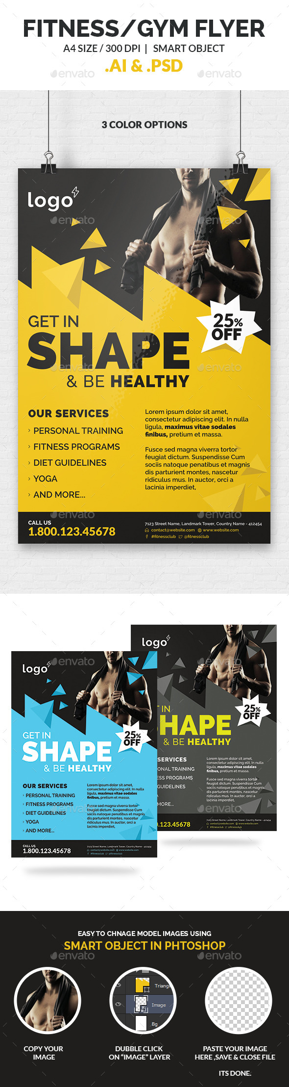 GraphicRiver Fitness Gym Flyer Template 10200155