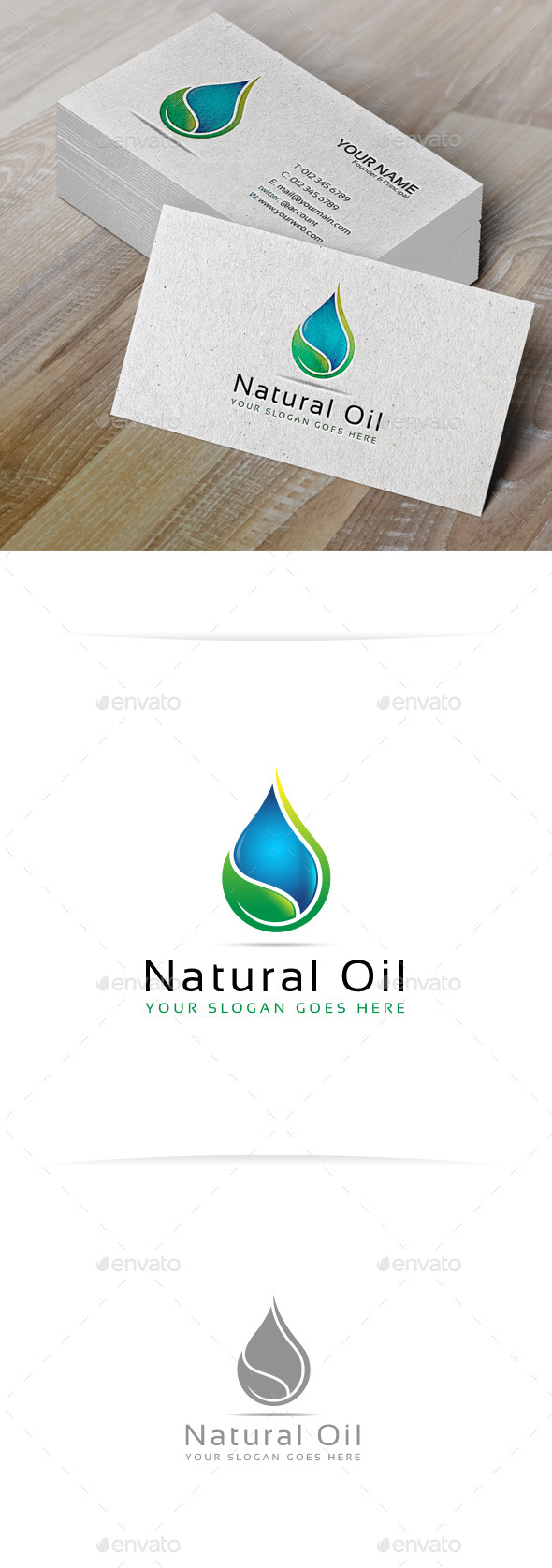 GraphicRiver Natural Oil Logo Template 10200387