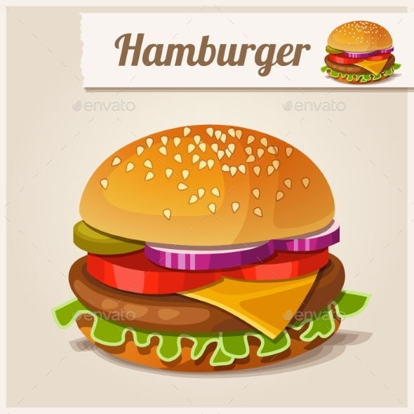 GraphicRiver Detailed Icon Hamburger 10200719