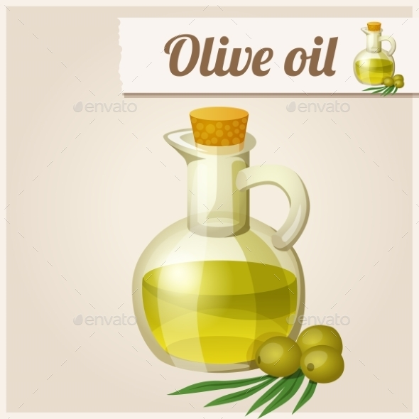 GraphicRiver Olive Oil in Bottle 10200720