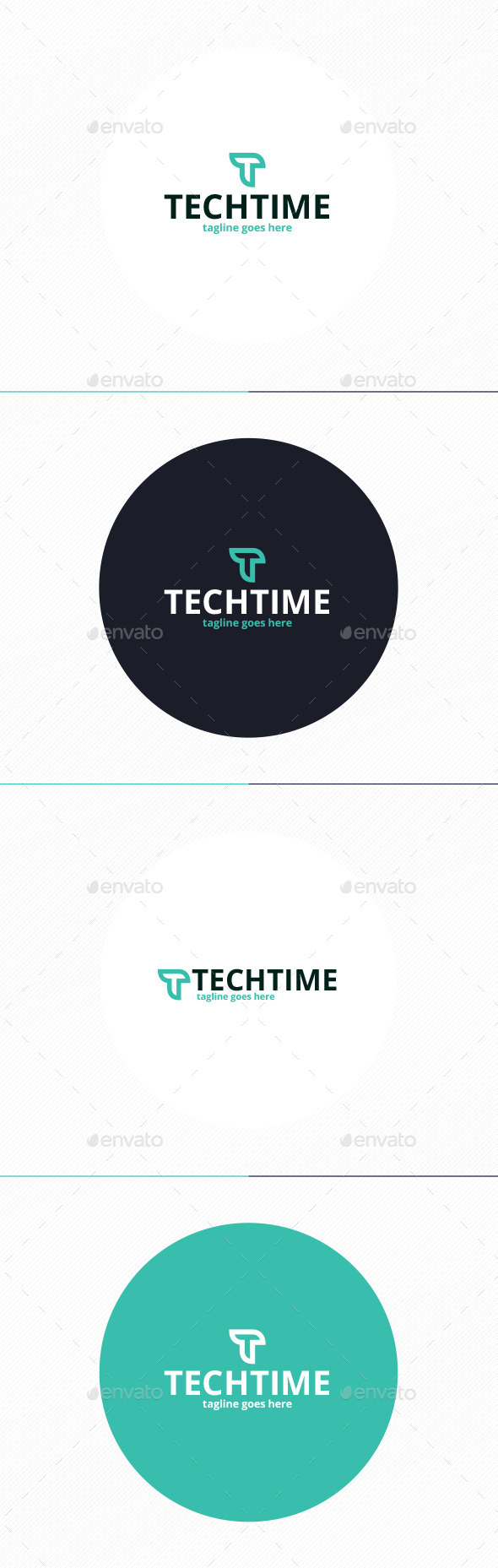 GraphicRiver Tech Time Logo Letter T 10200721
