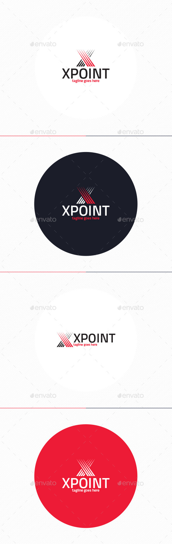 GraphicRiver X Point Logo Letter X 10200780