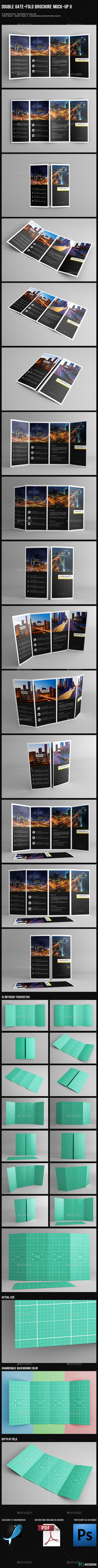 GraphicRiver Double Gate-Fold Brochure Mock-Up II 10159444