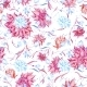 Blue and Pink Watercolor Pattern - GraphicRiver Item for Sale