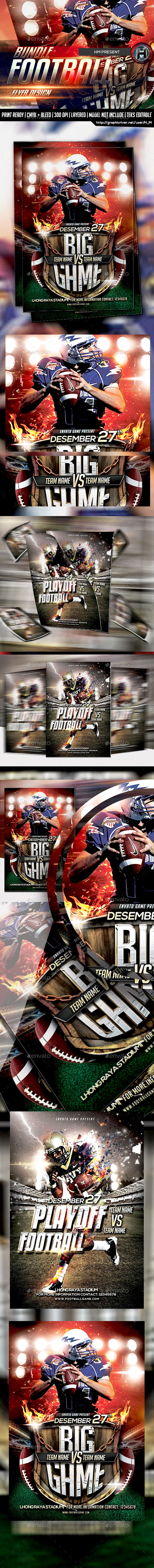 GraphicRiver Football Bundle Flyer 10201162