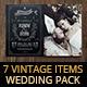 7 Vintage Items - Wedding Pack - GraphicRiver Item for Sale
