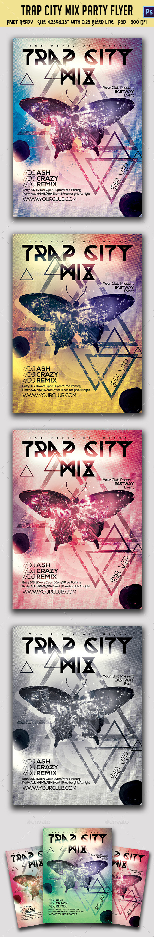 GraphicRiver Trap City Mix Party Template 10157318