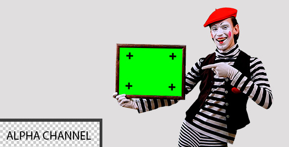Mime With a Sign 4