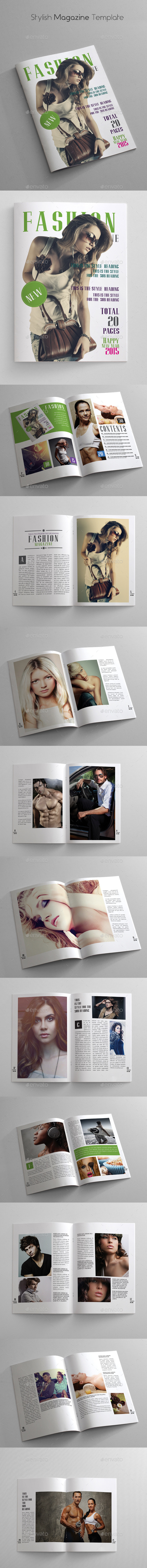 GraphicRiver Stylish Magazine Template 10201426