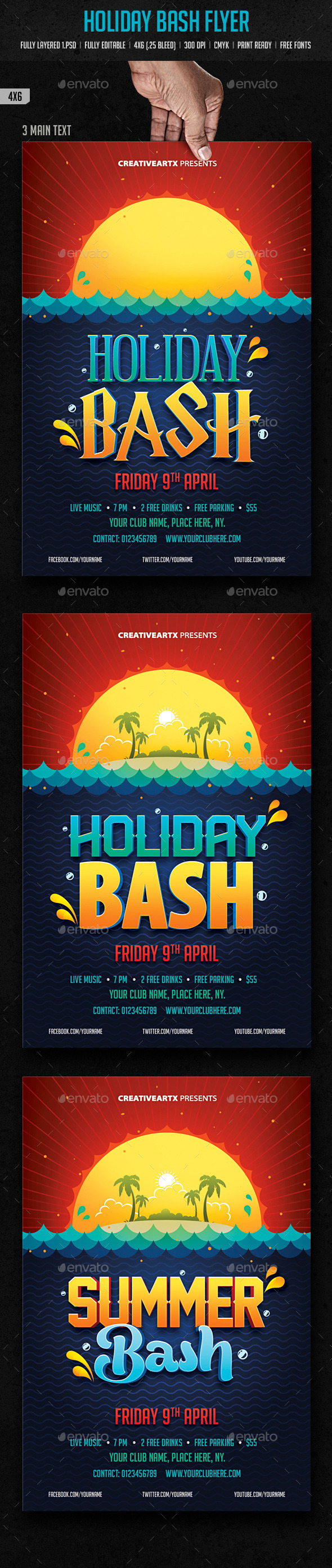 GraphicRiver Holiday Bash Flyer 10160800