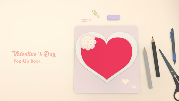 Valentine s Day Pop Up Book