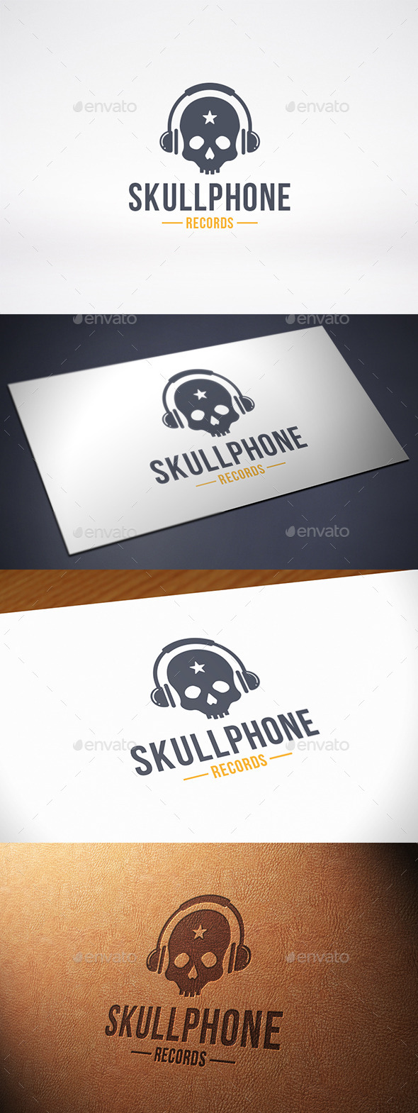 GraphicRiver Music Skull Logo Template 10201543