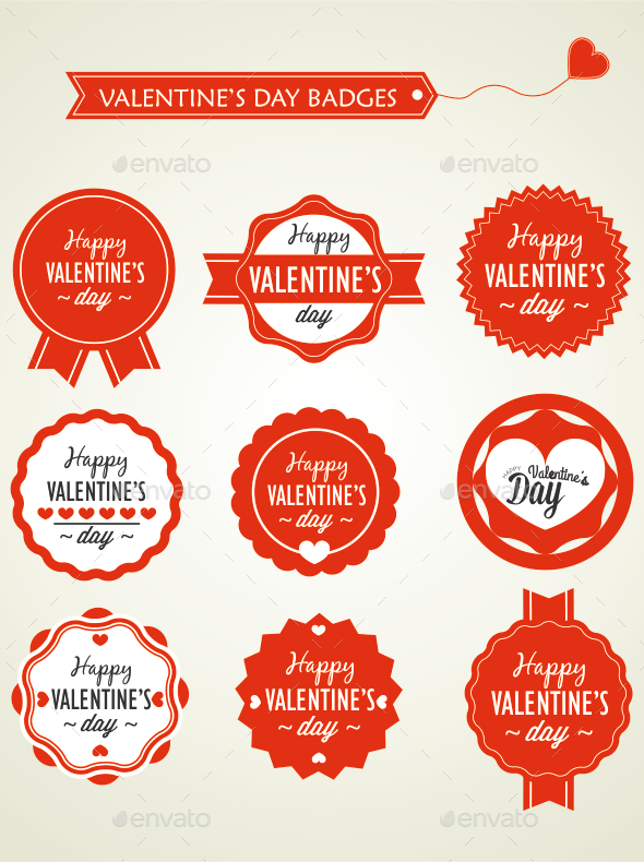 GraphicRiver Valentine s Day Badges 10201867