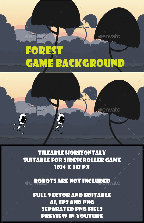 GraphicRiver Forest Game Background 10202143