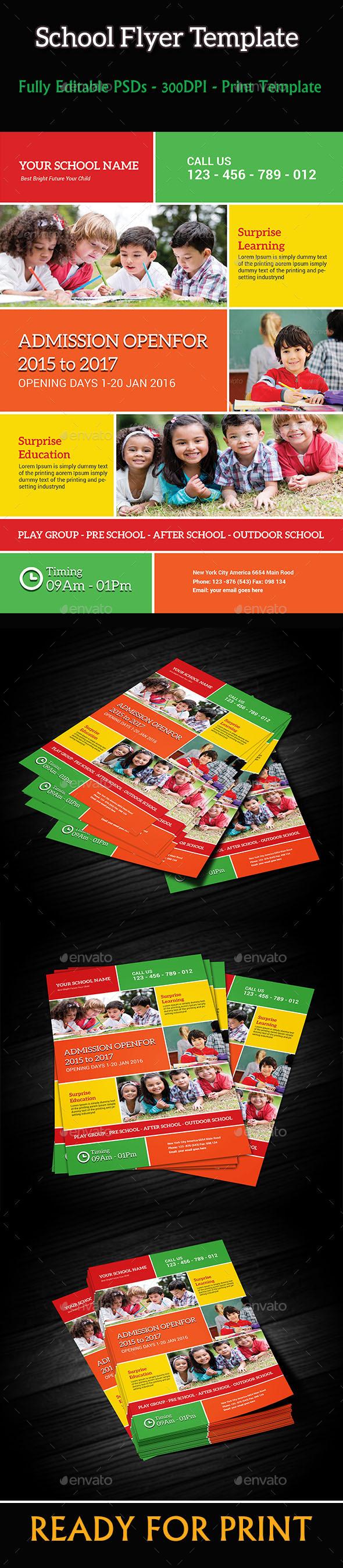 GraphicRiver School Flyer Template 10146218
